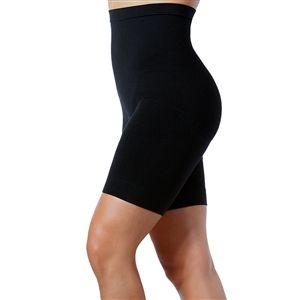 High rise black shapewear shorts