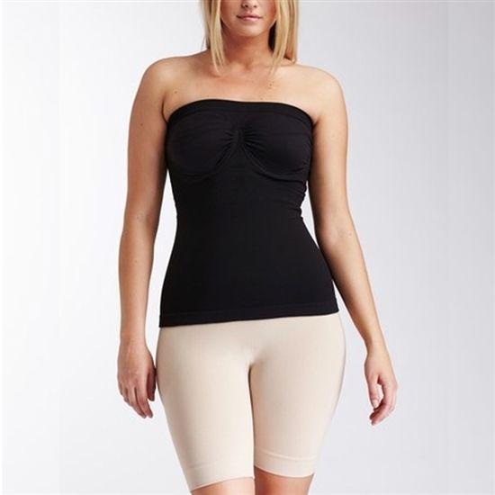 plus size strapless shapewear top black