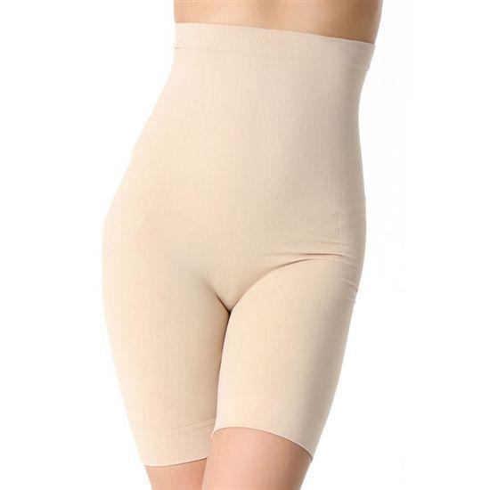 high rise shapewear shorts nude
