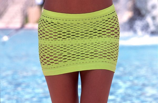 Green mesh swimsuit cover up